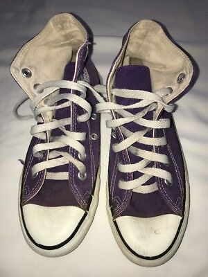 Vintage Converse Chuck Taylor Made In USA Purple High Top Men's 4 Women's 5.5
