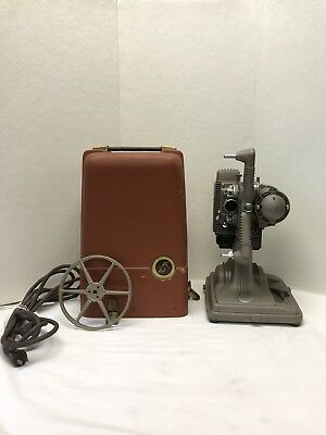 Revere Model 85 8mm Vintage Movie Projector, With Case Reel, Tested Working
