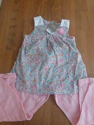 Next BNWT Girls Summer Top And Trousers 4-5