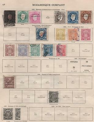 MOZAMBIQUE: 1892-1933 Examples - Ex-Old Time Collection - 2 Sides Page (17013)