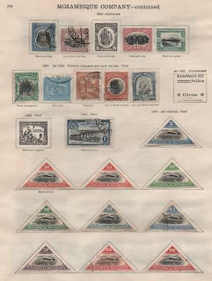 MOZAMBIQUE: 1918-1935 Examples - Ex-Old Time Collection - 2 Sides Page (16956)