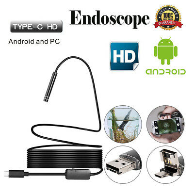 Android USB / TYPE-C Endoscope Inspection 5.5mm Camera 8 LED IP67 Waterprof