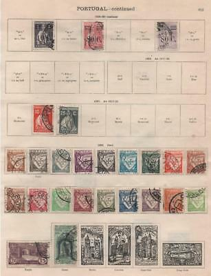 PORTUGAL: 1928-1936 Examples - Ex-Old Time Collection - 2 Sides Page (16990)
