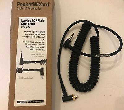 """PocketWizard PC5N Sync Cord, never used, in original box. 1/8"""" 3.5mm to PC mint"""