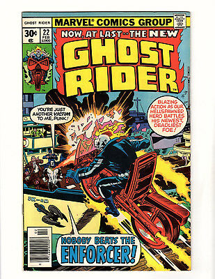 Ghost Rider #22 (1977, Marvel) VF- 1st App of the Enforcer! Jack Kirby Cover