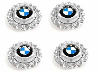 "1984-1991 NEW 4X BMW NEW BBS 14"" Wheel Center Hub Caps STYL.5 E30 318i 325e 325i"