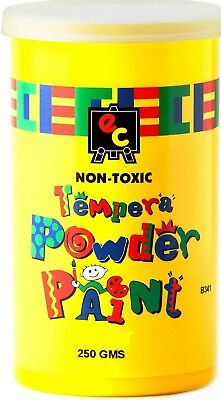 Tempera Powder Paint - 250 grams - Available in Red Blue or Yellow- Non Toxic