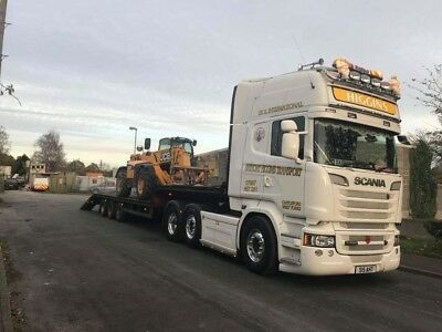 low loader transport