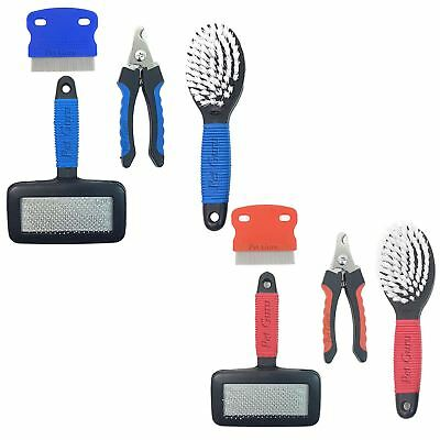 Pet Dog Grooming Set  Nail Clipper, Slicker Brushes, and Comb