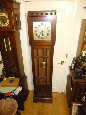 WURTEMBERG Antique German Oak Long case Westminster Chime Grandfather Clock
