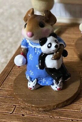 Wee Forest Folk Special Color LE Bunny Slippers Figurine M218 Cornflower Blue