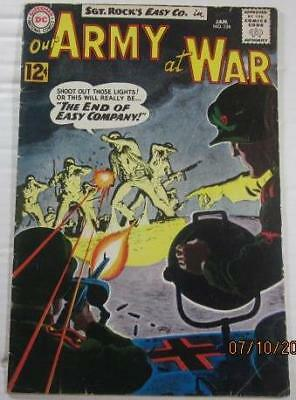 Our Army At War  #126 Dc Comics Jan 1963 First Canary Grey Tone Cover  Vg/f 5.0