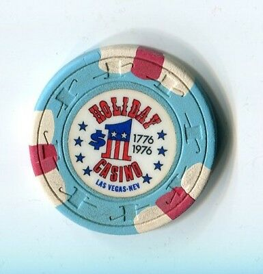 """+++ Old 1976 Holiday Casino $1 Vegas Bicentennial Rated """" M """""""