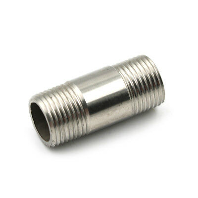 "1/2"" NPT Male to Male M/M Threaded Pipe Fitting Stainless Steel SS 304 TH"