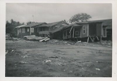 June 1946 Tidal Wave damage in Hilo from May typhoon Hawaii Photo