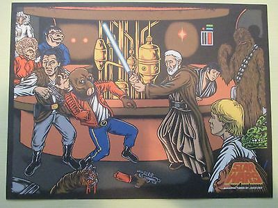 Star Wars Celebration 7 2015 Santa Cruz Skateboards Cantina Scene Print