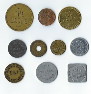 lot of 10 different MONTANA trade tokens