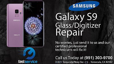 Samsung Galaxy S9 Cracked Broken Screen Glass Repair Replacement Mail In Service