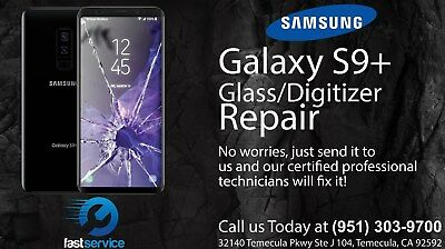 Samsung Galaxy S9+ Plus Cracked Broken Screen Glass Repair Replacement Mail In