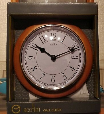 Wall Clock Wood Surround Clear Face