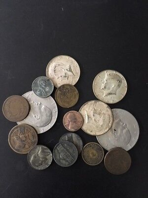 USA Raw Estate coin lot with Civil War, 2 cent, silver,others