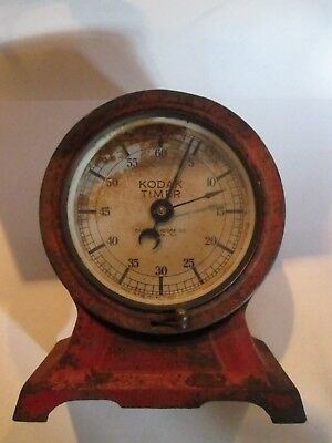 Vintage Kodak Darkroom Timer Red Works On And Off Super Cool Patina Rochester Ny