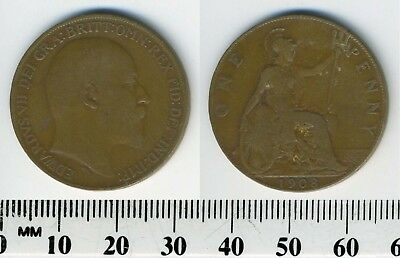 GREAT BRITAIN 1908 - 1 Penny  Large Coin - King Edward VII - #1