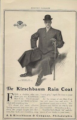 Kirschbaum Rain Coat Class and Style 1904 Vintage Ad