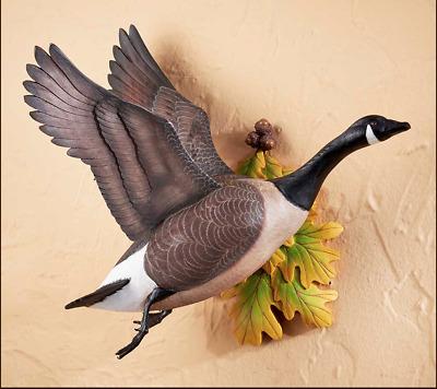 Flying Canada Goose Wall Sculpture  By Sam Nottleman for Wild Wings #6538512003