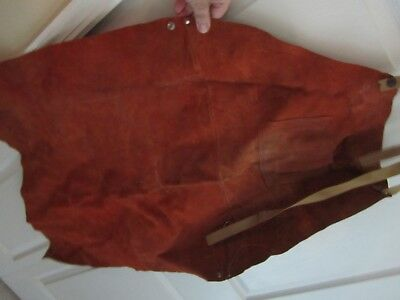 Bib Apron Leather  Drk Brown carving wood working wood shop protection
