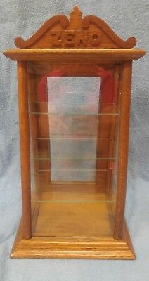 Antique ZENO Chewing Gum Counter Top Oak Display Case Advertising Country Store