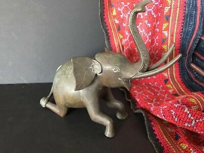 Old Bronze / Brass Asian Elephant (a) …beautiful display / accent piece