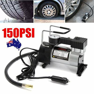 150psi Portable Car Tyre Air Compressor Pump 12V Tire Inflator Heavy Duty