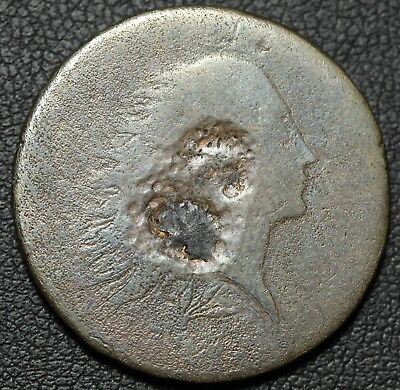 1793 Flowing Hair Wreath Large Cent - Scarcer Lettered Edge Variety! - Damage