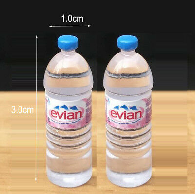 2pcs Dollhouse Miniature 1:6 Toy Water Bottles Set Drinking Accessory Re-ment
