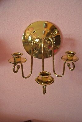 Home Interior Gold Tone 3 Arm Taper Candle Or Votive Cup Holder Wall Sconce