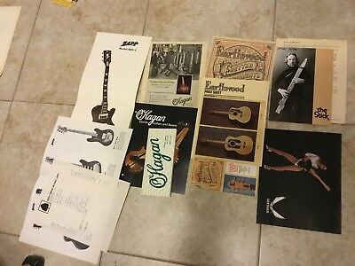 70s-80s Guitar catalogs LOT Dean Zapp Earthwood Chapman O'Hagan Wow!