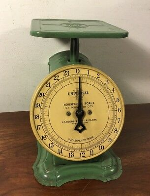 Nice Vintage Green Landers Frary Clark 24lbs Kitchen Universal Household Scale