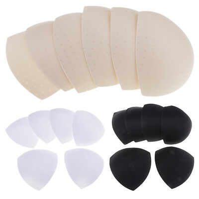 3 Pairs Triangle Bra Pads Sewing In Insert Sponge Soft Cup Removable Padded