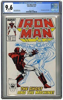 "IRON MAN ""Ghost"" 1st appearance #219, #220, #221 ALL CGC Graded 3 Book Set"