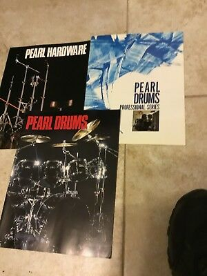 Pearl Drum Catalogs 1980s  nice  LOT
