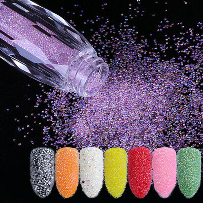 Mini Bubble Beads Glitters Clear 3D Nail Art Decoration Manicure Mixed Colorful