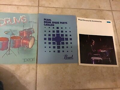 Old Pearl Drums Catalog #69 plus more LOT