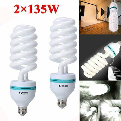 2PCS 135W 5500K E27 Photo Studio Bulb Lighting Day Light Camera Photography Lamp