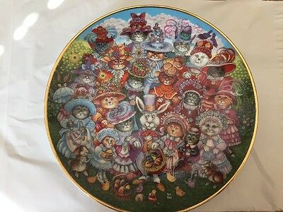 Franklinmint Easter Purrade Cat Plate Limited Edition HS3014