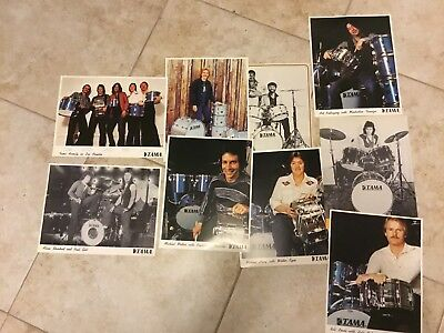Old TAMA drums promo artist pics BIG LOT of 9 8X10s