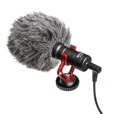 BYMM1 Cardiod Shotgun Video Microphone MIC Video for iPhone Samsung Camera &