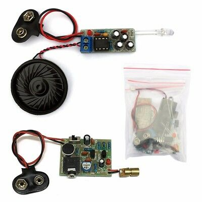 12V Laser Infrared Wireless Audio Transmission Transceiver DIY Learning Kits New