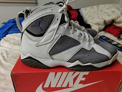 552348944b4 NIKE AIR JORDAN Vii 7 Retro Flint Grey Purple 304775-151 Size 12 ...