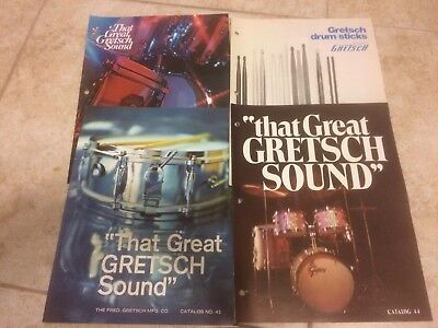 1966-73 Vintage Gretsch Drum items catalogs #43, #44, and more LOT